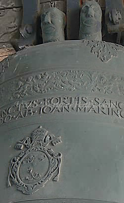 Detail of a bell of the Campanile saint mark bell tower