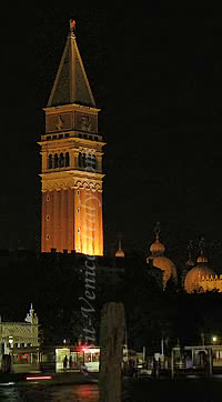 Saint Mark Bell tower at night