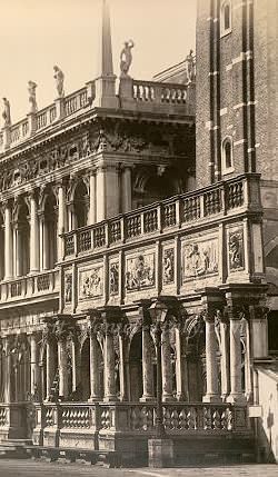 Saint Mark Bell Tower campanile The Loggia by Sansovino (Photograph 1870)