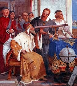 Galileo introduces his telescope to the doge Leonardo Donato in 1609